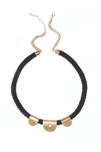 The Salt Empire Terra Rope Necklace in Black