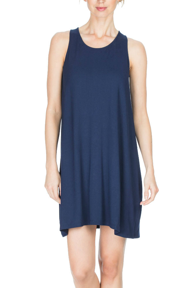 Lilla P. Tie Back Dress in Navy