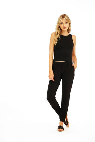 McGuire High Rise Skinny with Slit in White Lie