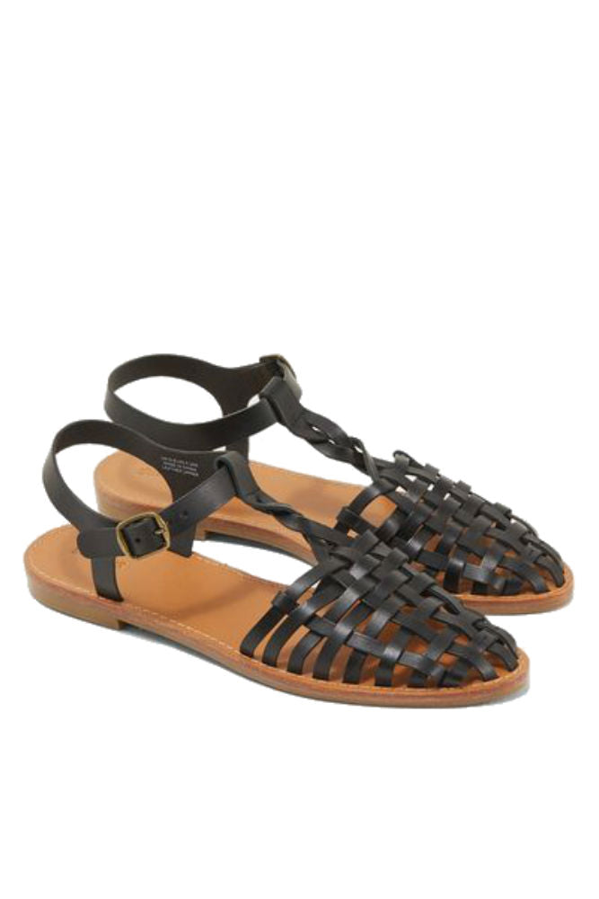 ce202a7de SOLUDOS Woven Fisherman Sandal in Black - FINAL SALE – Adorn