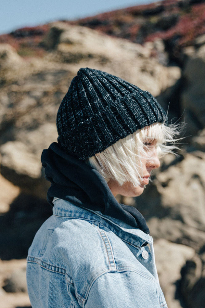 YELLOW 108 Yurt Beanie in Black