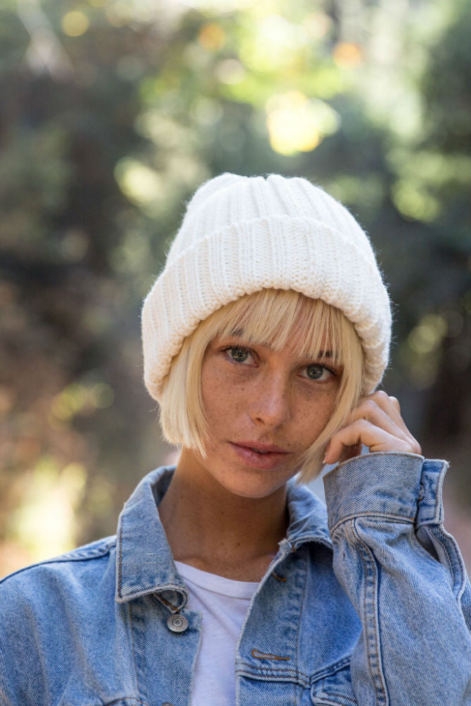 YELLOW 108 Yurt Beanie in Natural