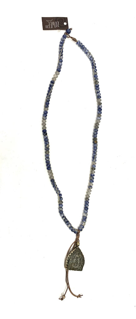 zoWEE Jewels Long Beaded Chain Necklace w/Buddha