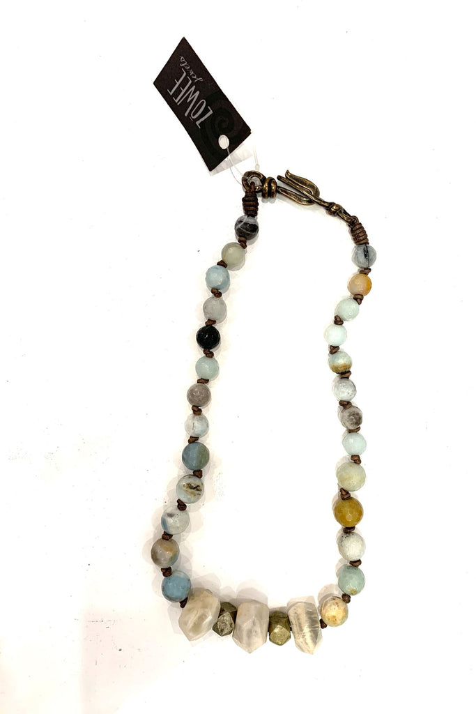 zoWEE Jewels Short Amazonite Strand Necklace