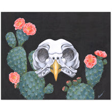 Owl with Cactus Giclée Canvas Print