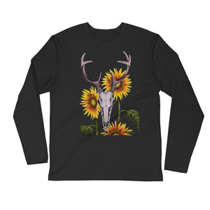 Whitetail Deer Long Sleeve Fitted Crew
