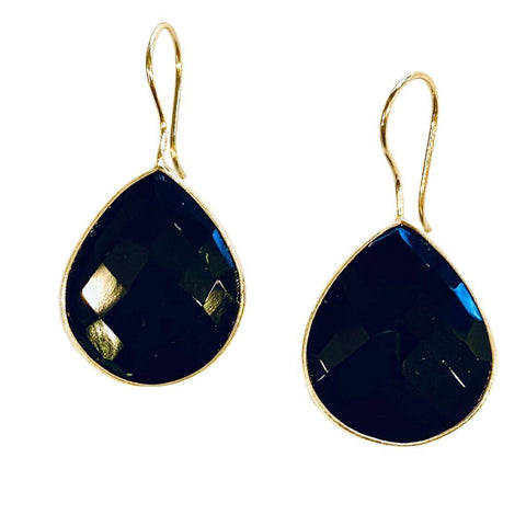 Black Onyx Faceted Earrings - Irit Sorokin Designs Canadian handmade jewelry