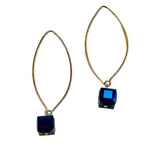 Swaravski Cube Black Earrings - Irit Sorokin Designs Canadian handmade jewelry