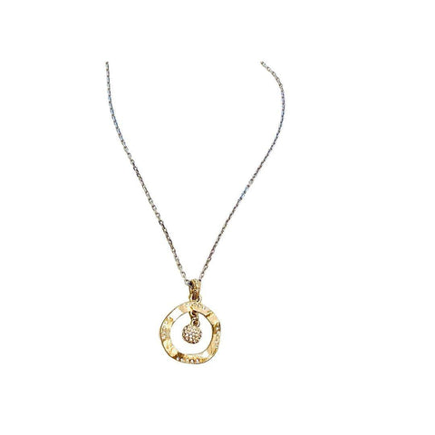 Cubic Zirconium circle Of Life Necklace - Irit Sorokin Designs Canadian handmade jewelry