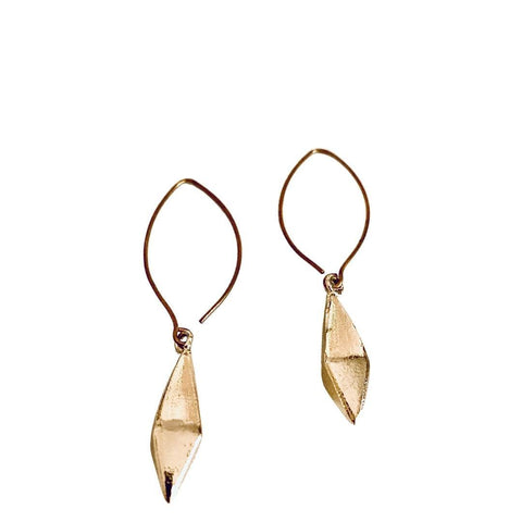 Gold Contemporary Shape Earrings - Irit Sorokin Designs Canadian handmade jewelry