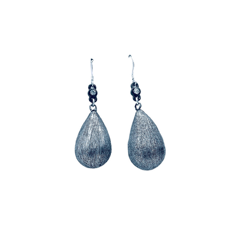 Silver Drop Earrings - Irit Sorokin Designs Canadian handmade jewelry
