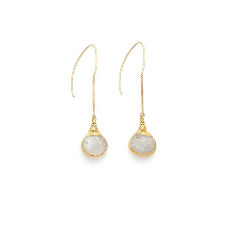 Moonstone Earrings - Irit Sorokin Designs Canadian handmade jewelry