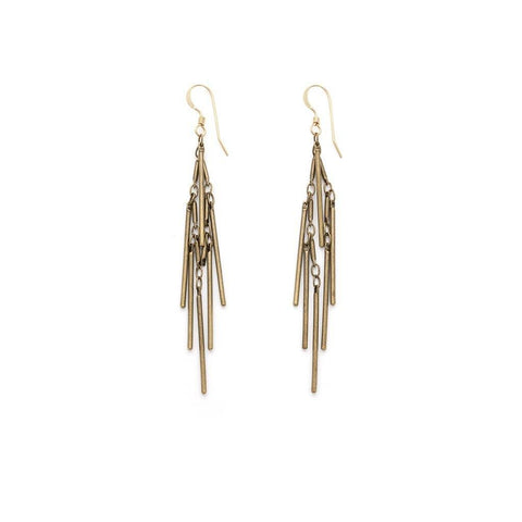 Brass Tassel Earrings - Irit Sorokin Designs Canadian handmade jewelry