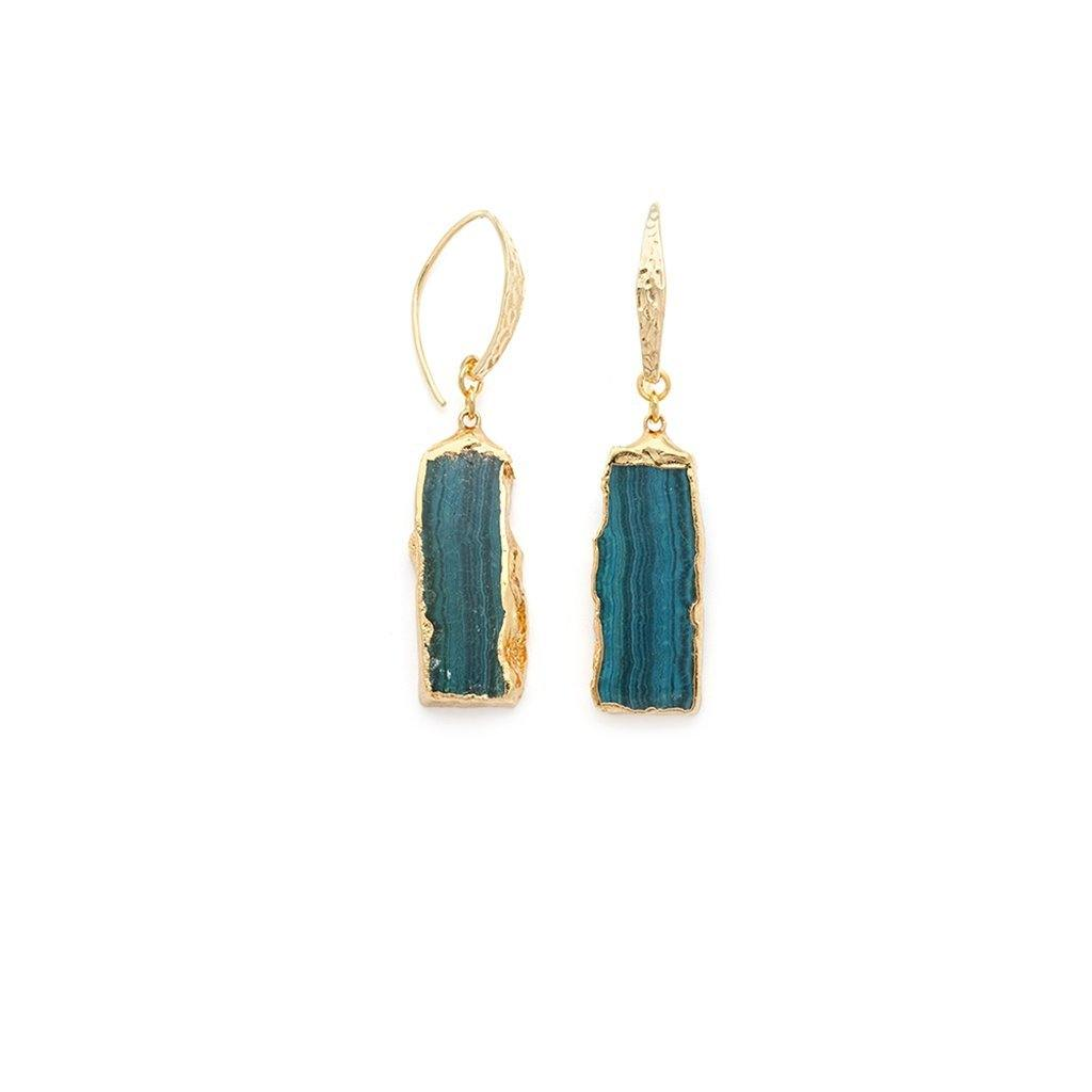Chrysocolla Earrings - Irit Sorokin Designs Canadian handmade jewelry