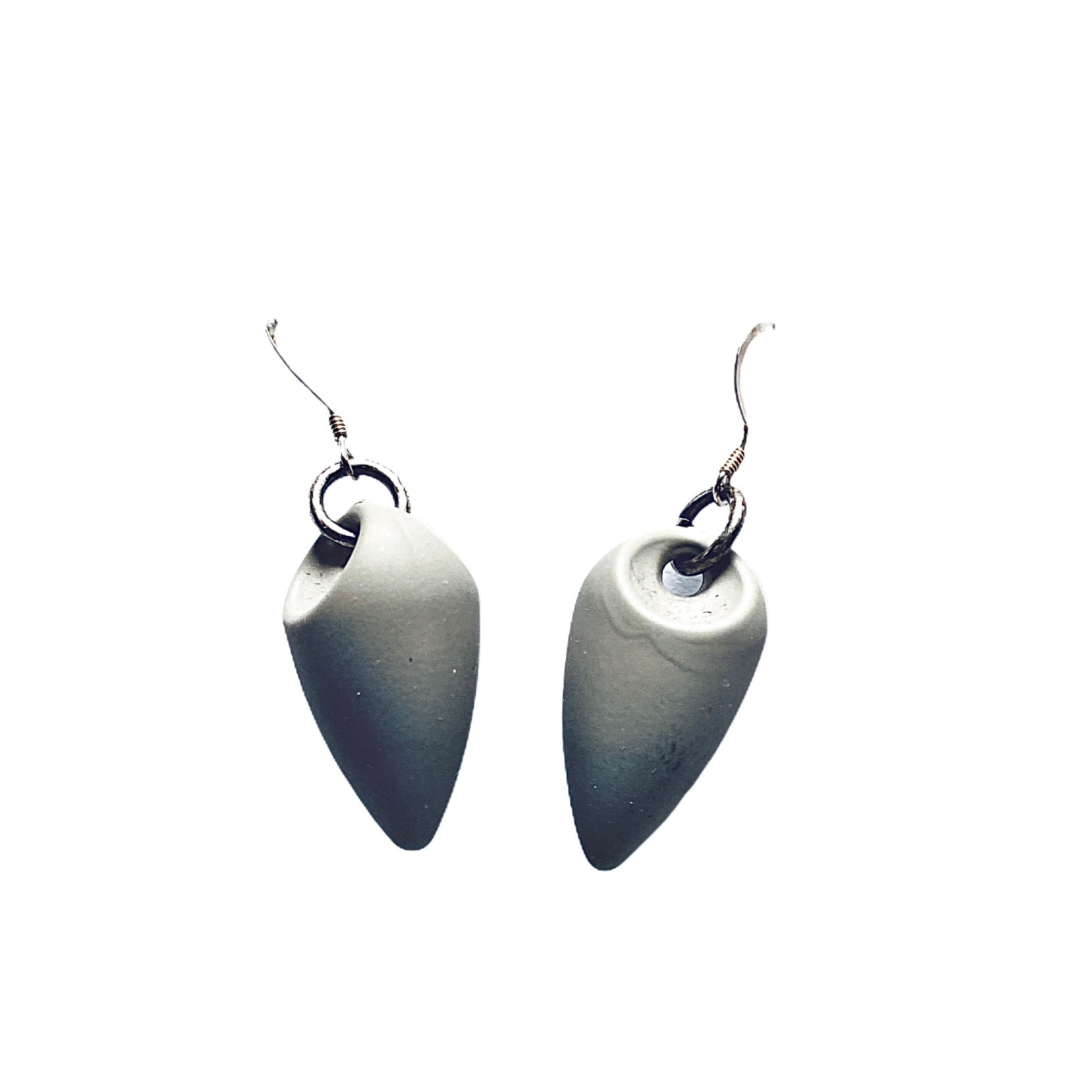 Grey Recycled Resin Earrings - Irit Sorokin Designs Canadian handmade jewelry