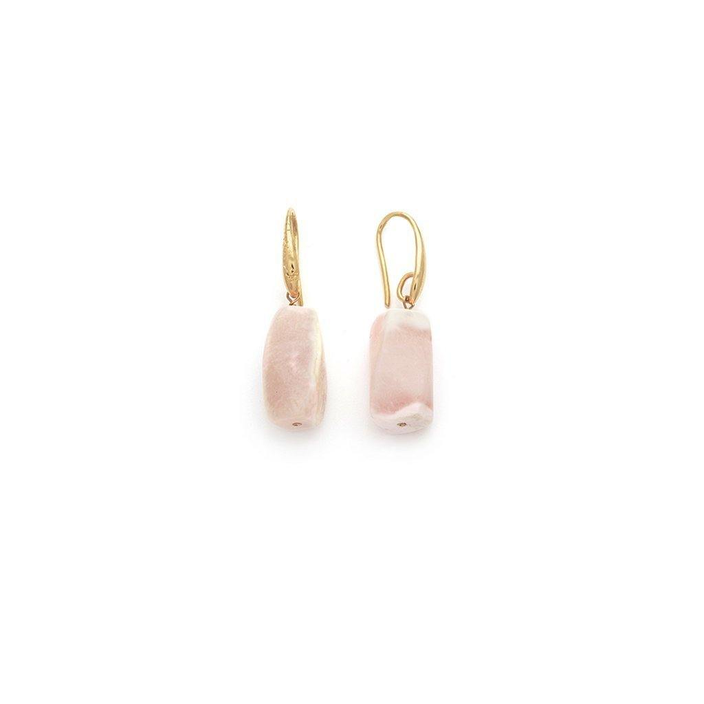 Peruvian Pink Opal Earrings