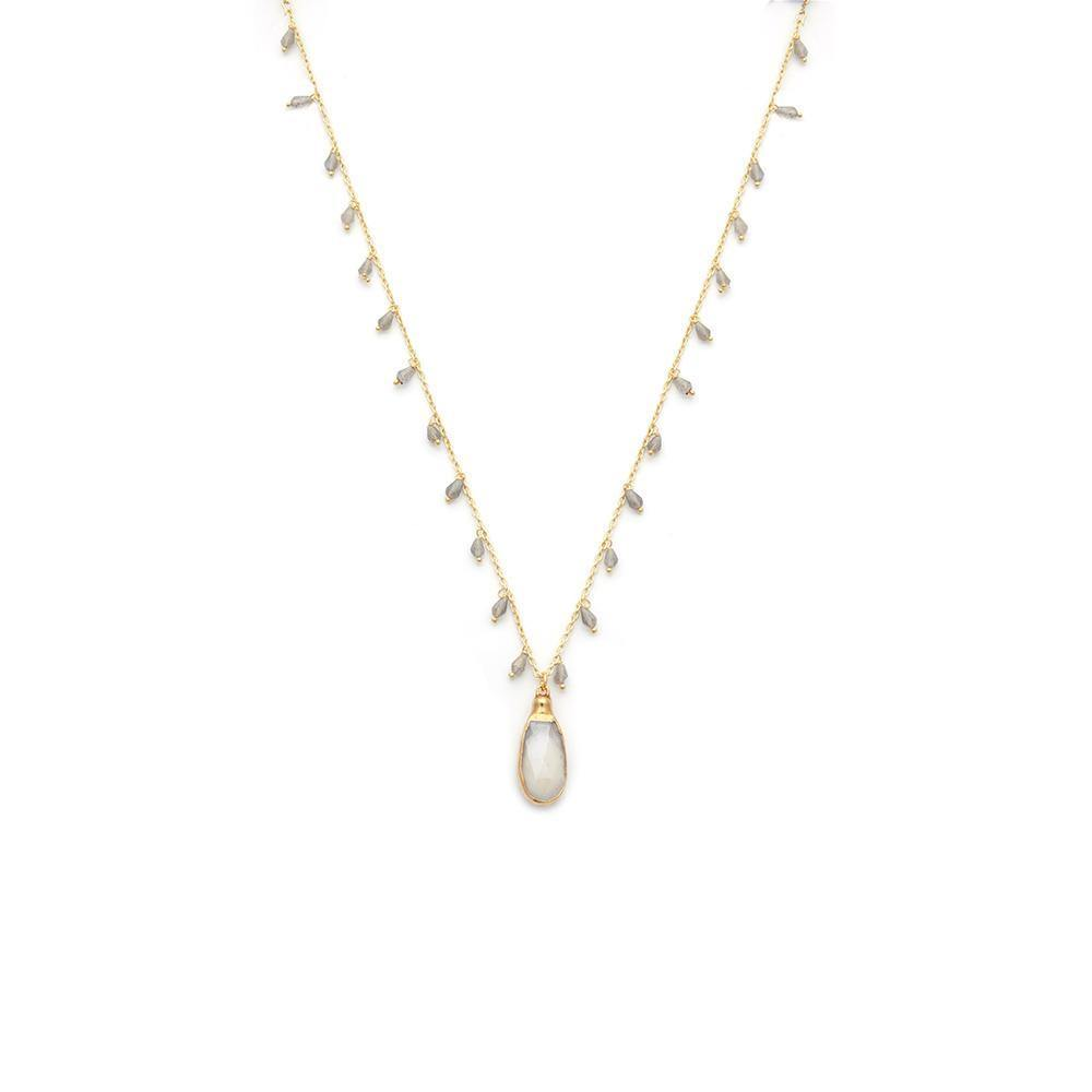 Bi-Colour Moonstone Necklace