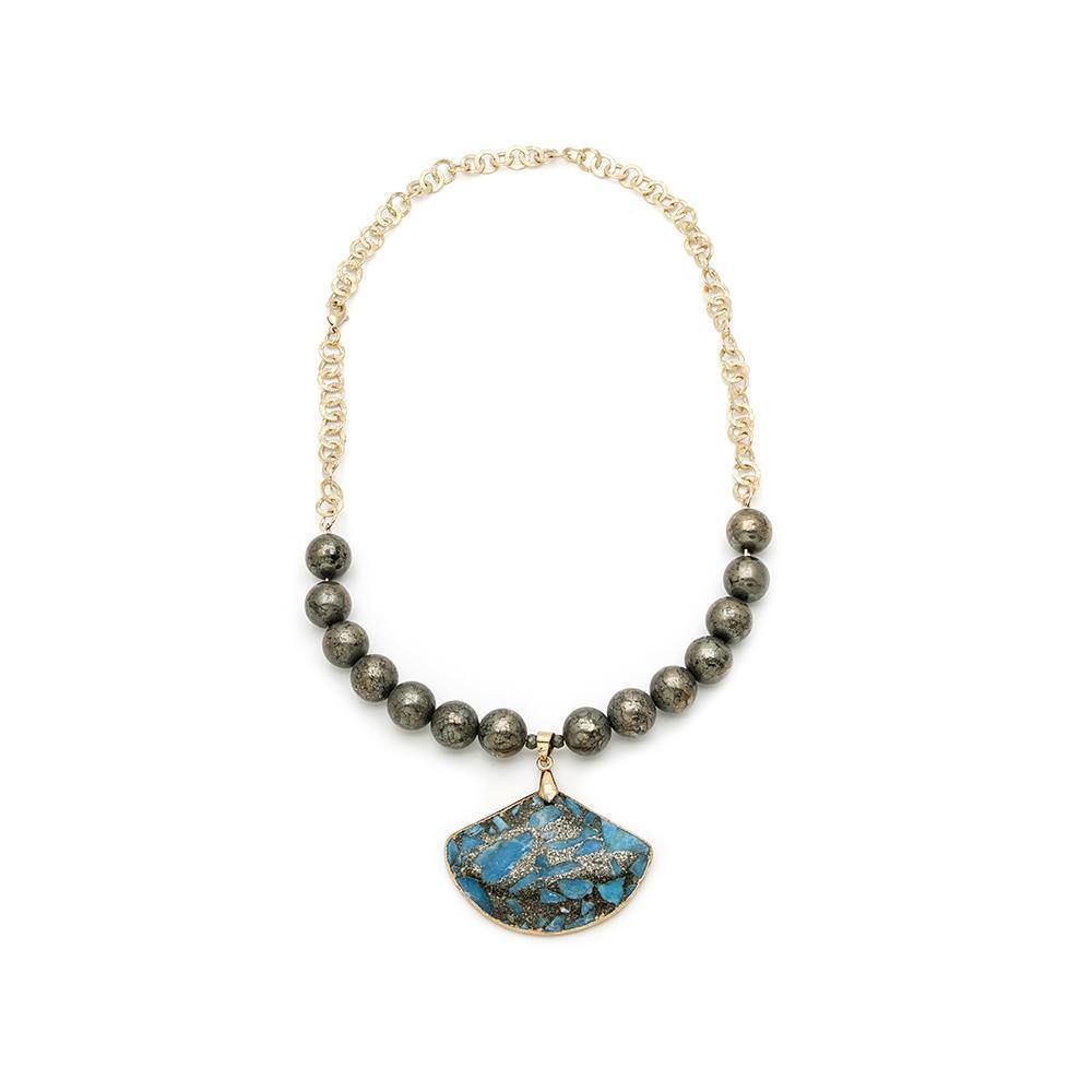 Tibetan Turquoise Necklace - Irit Sorokin Designs Canadian handmade jewelry