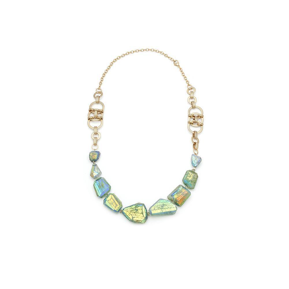Aquamarine Beaded Necklace
