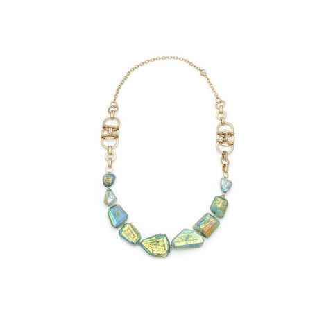 Aquamarine Beaded Necklace - Irit Sorokin Designs Canadian handmade jewelry