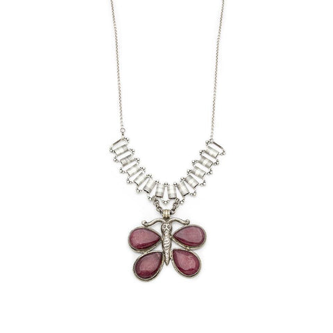 Ruby Quartz Pendant Necklace