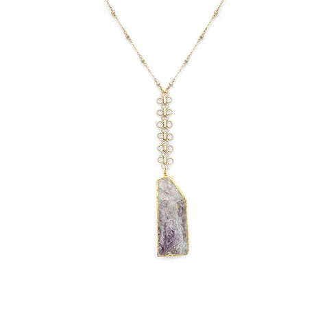 Lepidolite Pendant Necklace