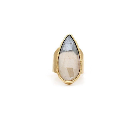 Bi-colour Moonstone Ring - Irit Sorokin Designs Canadian handmade jewelry