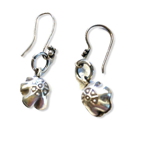 Flower  Earrings - Irit Sorokin Designs Canadian handmade jewelry