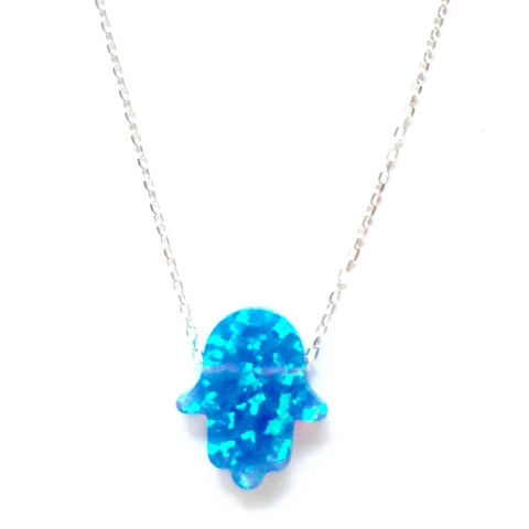 Opalite Hamsa Necklace - Irit Sorokin Designs Canadian handmade jewelry