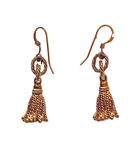 Tassel Gold Earrings - Irit Sorokin Designs Canadian handmade jewelry