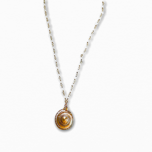 Sundial Shell Pendant Necklace