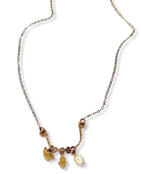Three Symbols Gold Necklace - Irit Sorokin Designs Canadian handmade jewelry
