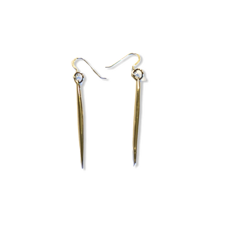 Spike Rhodium Earrings - Irit Sorokin Designs Canadian handmade jewelry