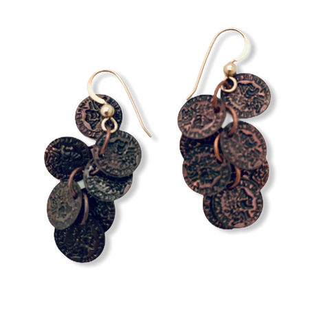 Roman Coin Earrings - Irit Sorokin Designs Canadian handmade jewelry