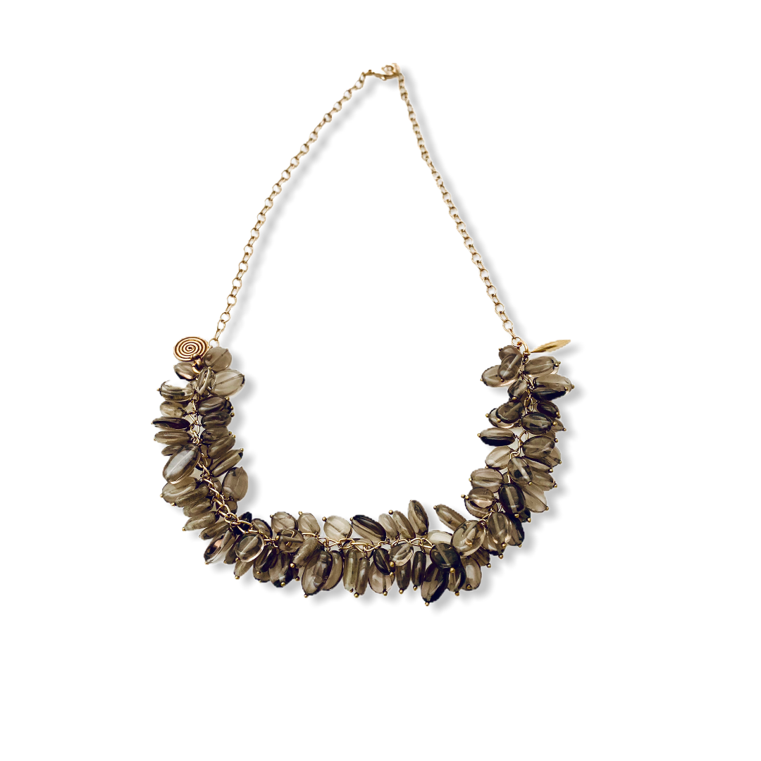 Smokey Topaze Necklace - Irit Sorokin Designs Canadian handmade jewelry