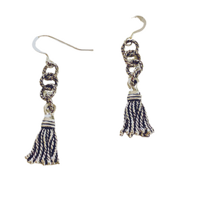 Tassel Silver Earrings - Irit Sorokin Designs Canadian handmade jewelry