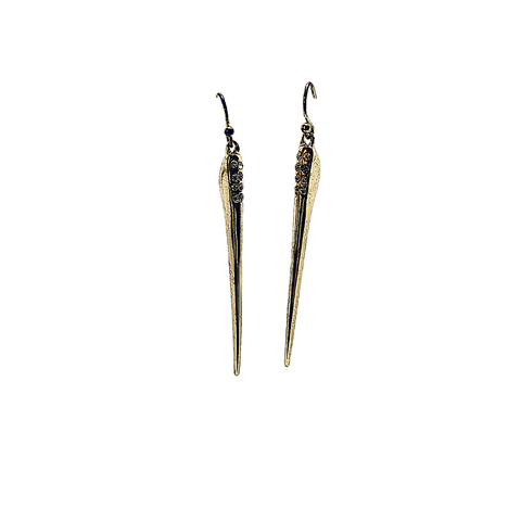 Spike Sparkle Earrings - Irit Sorokin Designs Canadian handmade jewelry