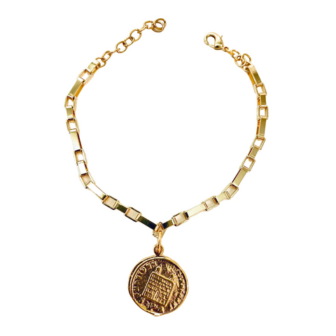 Ancient Coin Gold Bracelet - Irit Sorokin Designs Canadian handmade jewelry