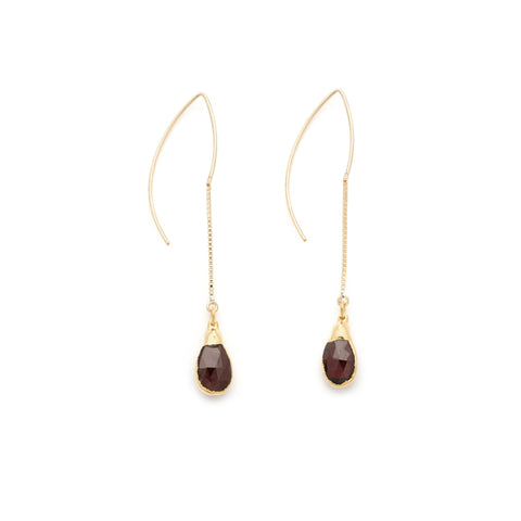 Red Garnet Earrings - Irit Sorokin Designs Canadian handmade jewelry