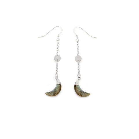 Labradorite Half Moon Earrings - Irit Sorokin Designs Canadian handmade jewelry