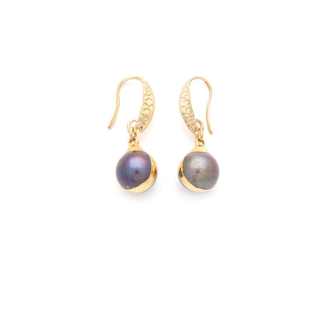 Fresh Water Pearl Earring - Irit Sorokin Designs Canadian handmade jewelry