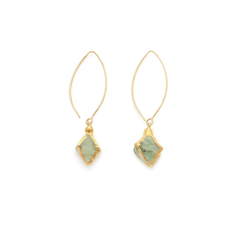Fluorite Earrings - Irit Sorokin Designs Canadian handmade jewelry