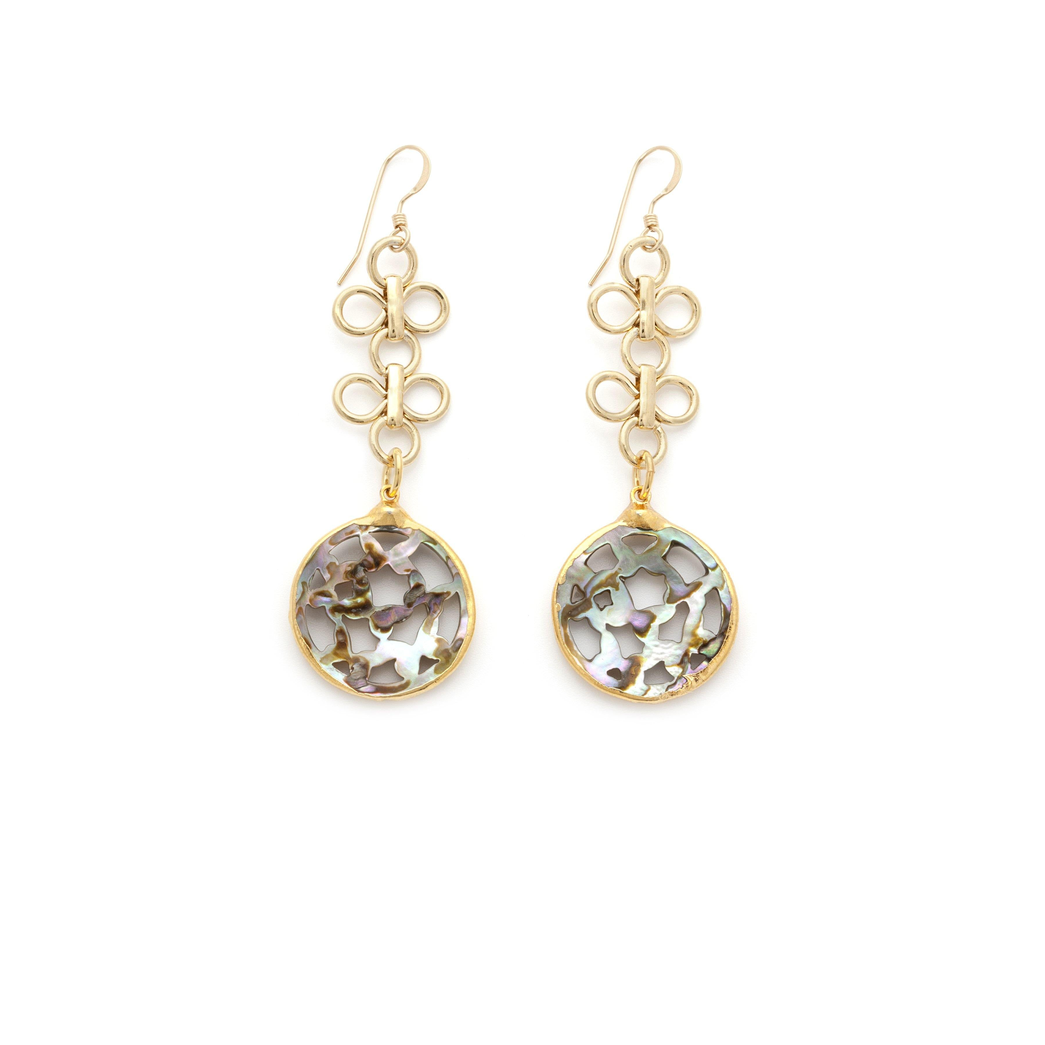 Mother Of Pearl Earrings - Irit Sorokin Designs Canadian handmade jewelry