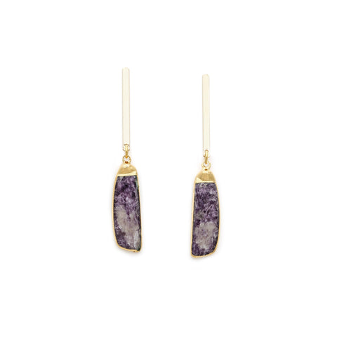 Lepidolite Gold Filled Earrings - Irit Sorokin Designs Canadian handmade jewelry