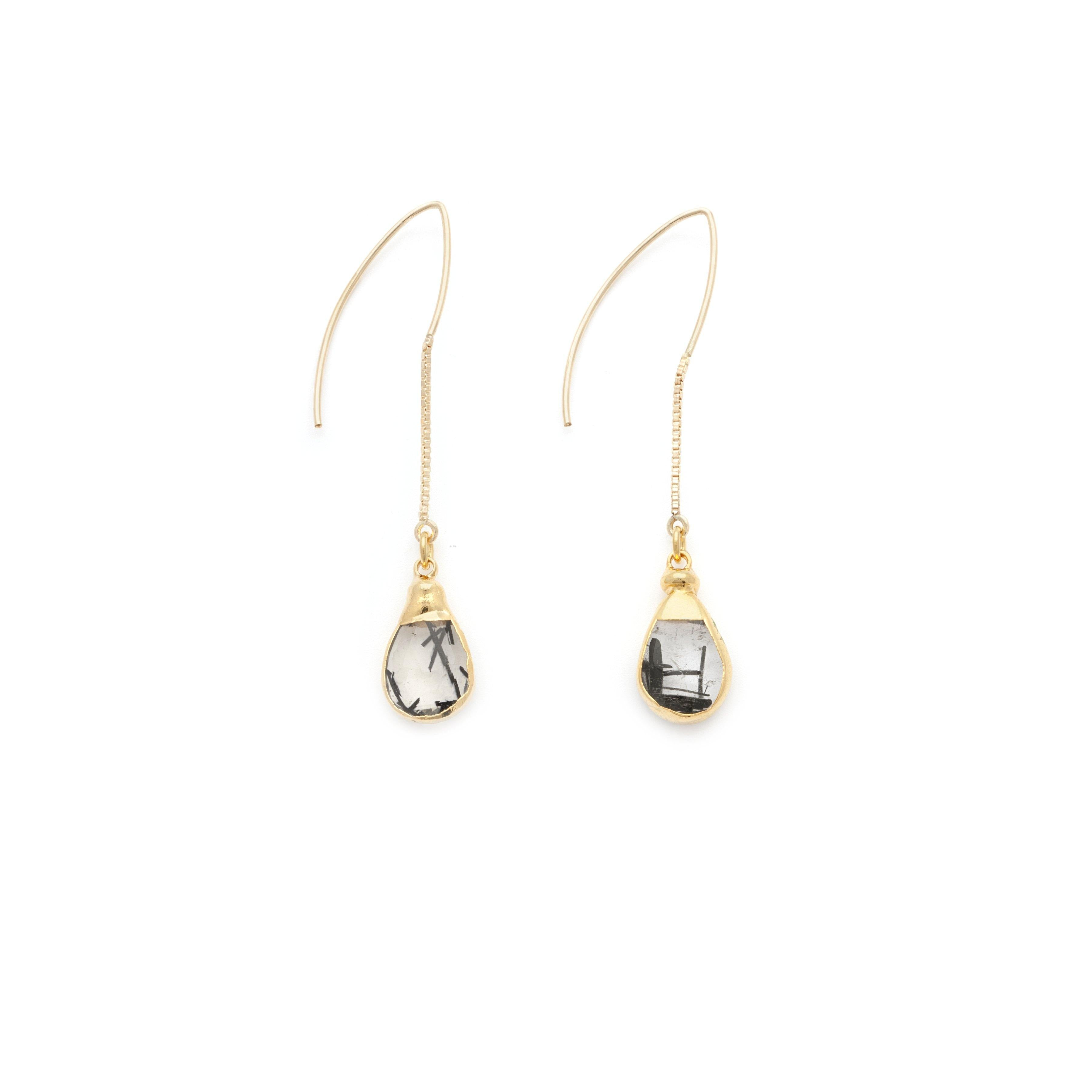 Ritualized Quartz Earrings - Irit Sorokin Designs Canadian handmade jewelry