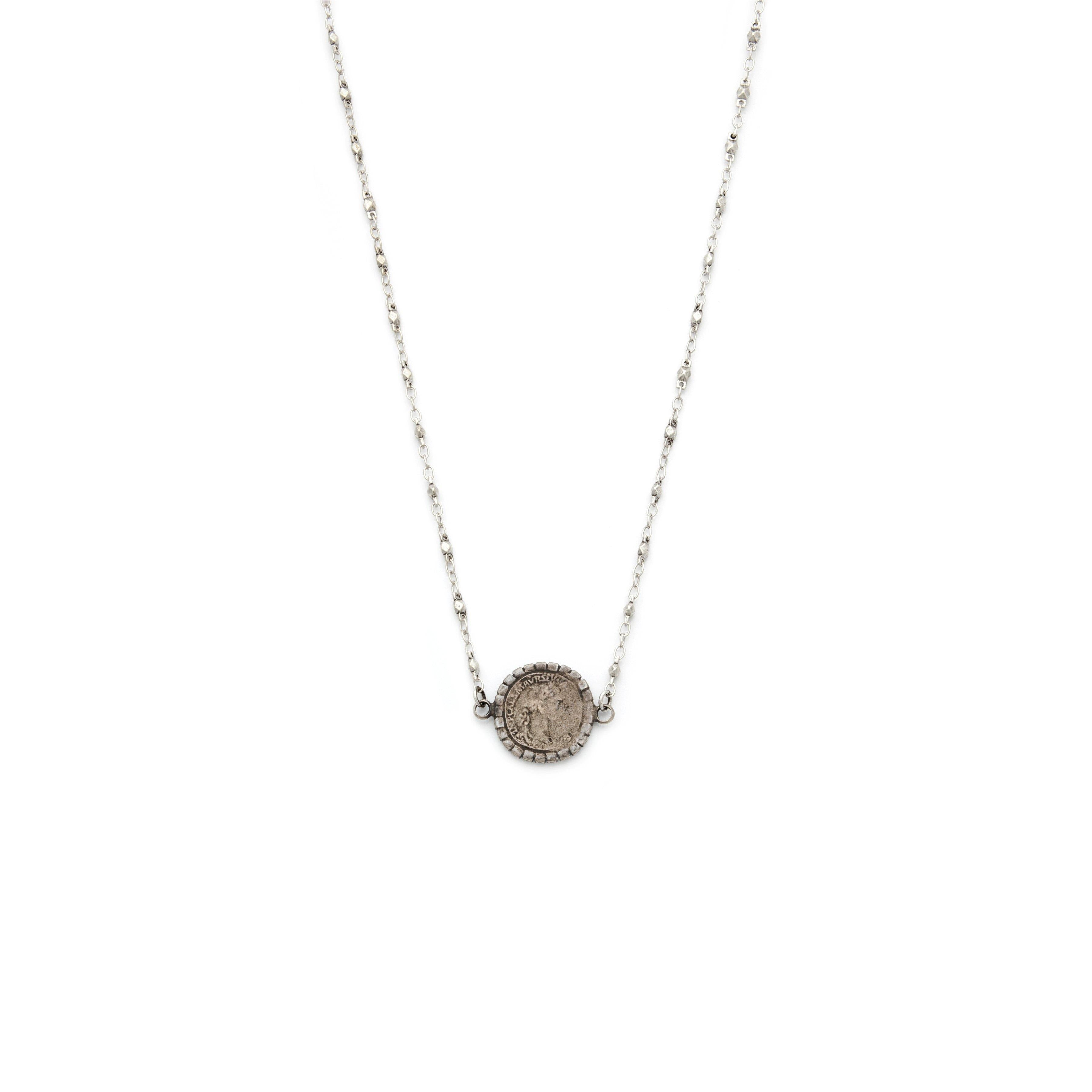 Roma Coin Silver Necklace - Irit Sorokin Designs Canadian handmade jewelry