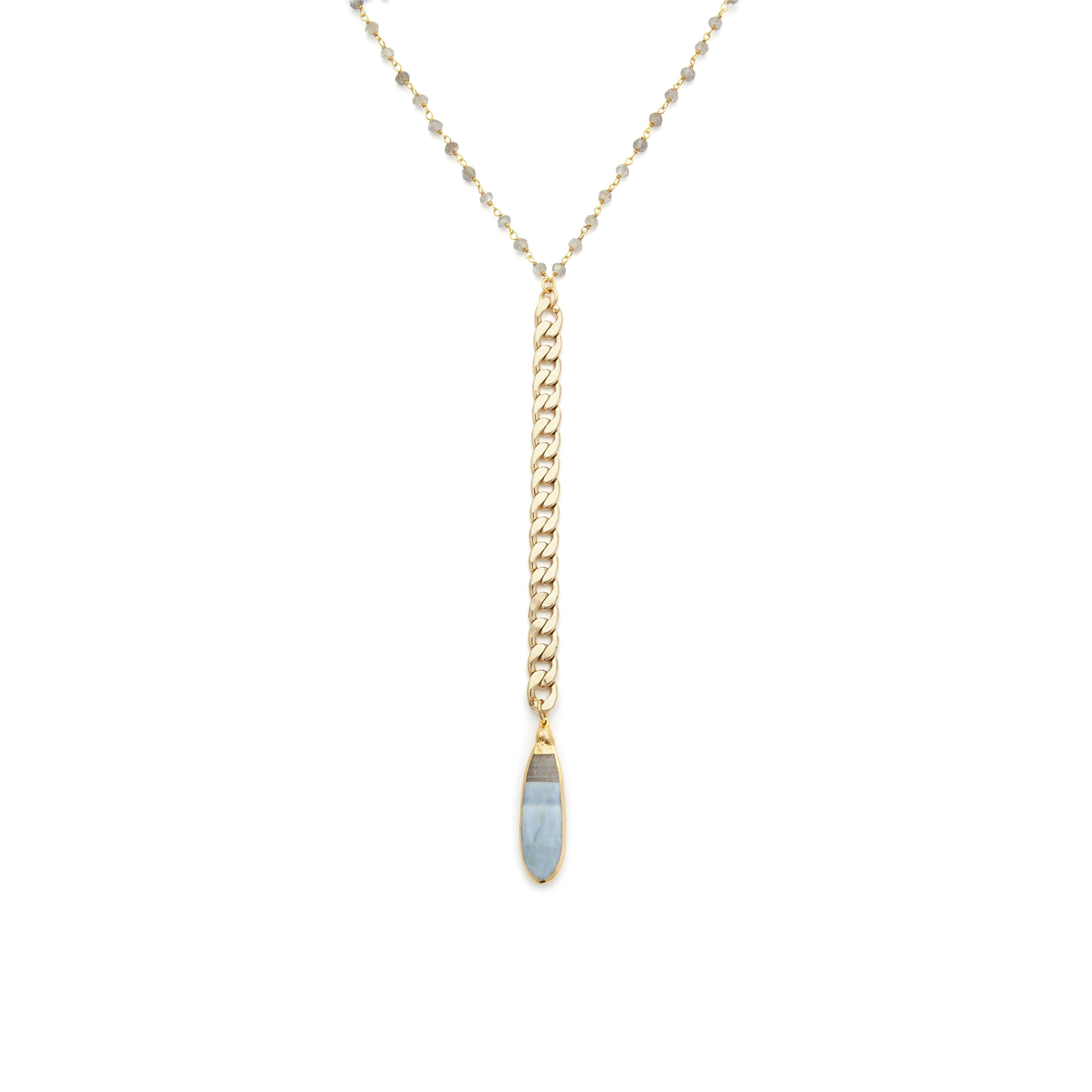 Bi-color Moonstone Necklace - Irit Sorokin Designs Canadian handmade jewelry