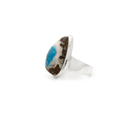Dioptase Sterling Silver Ring - Irit Sorokin Designs Canadian handmade jewelry