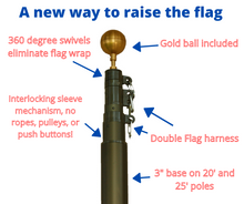 Load image into Gallery viewer, Telescoping flagpole kit