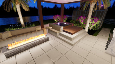 Backyard Remodel Design In Parkland With Spa And Landscaping